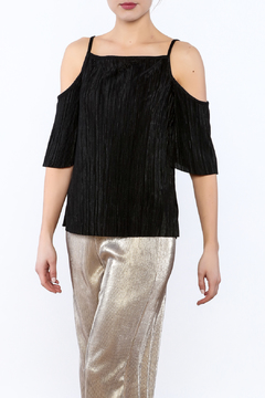 RD Style Black Cold-Shoulder Top - Product List Image