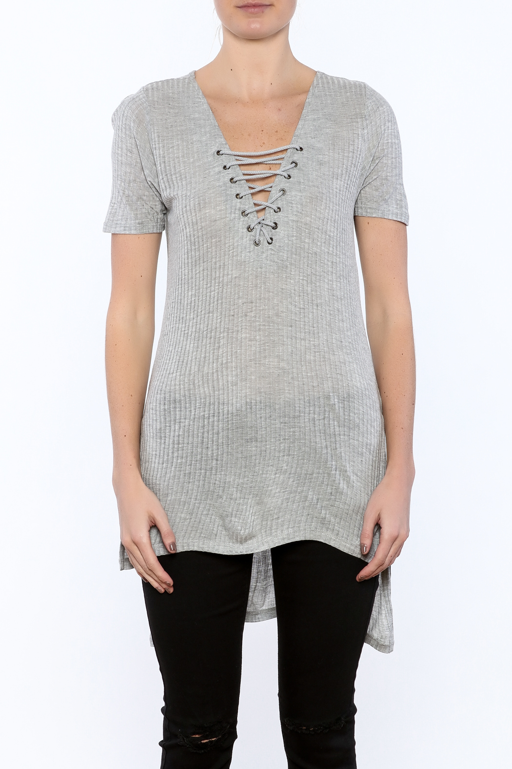 RD Style Crisscross Tunic - Side Cropped Image