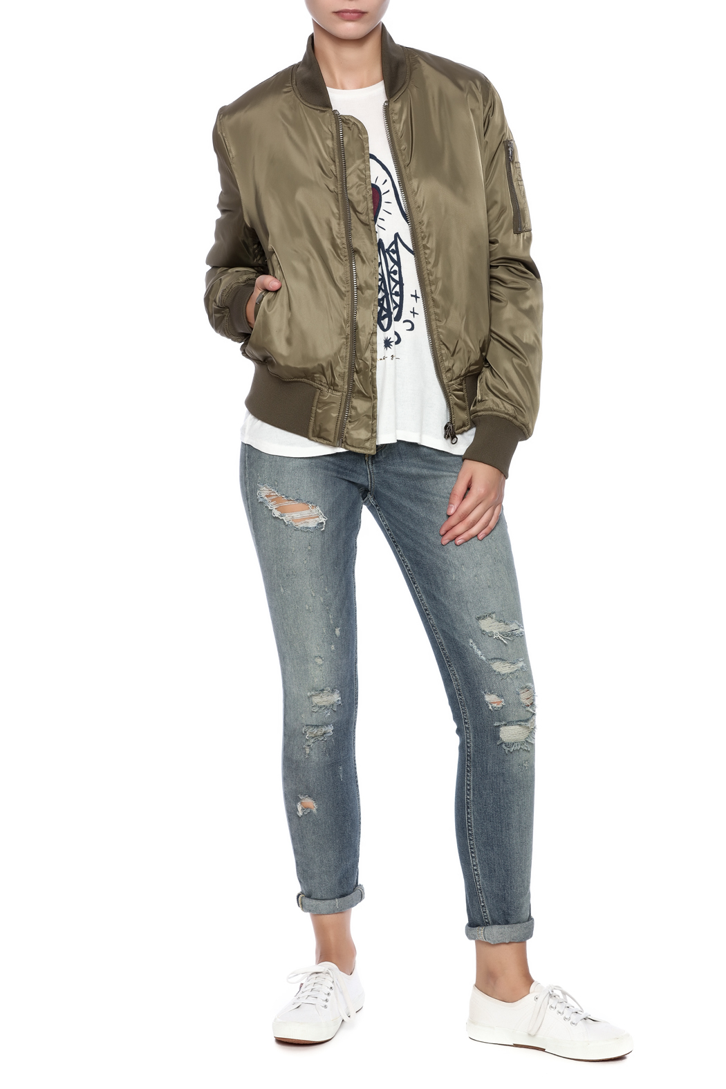 RD Style Olive Bomber - Front Full Image