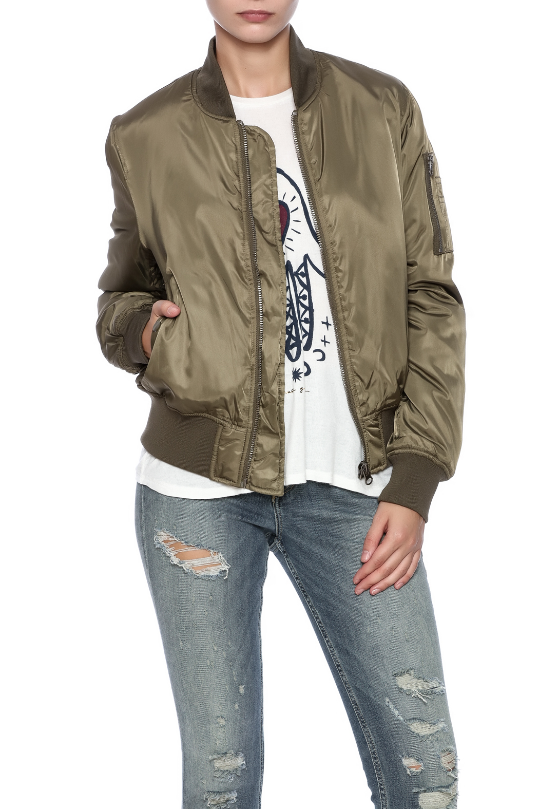 RD Style Olive Bomber - Main Image