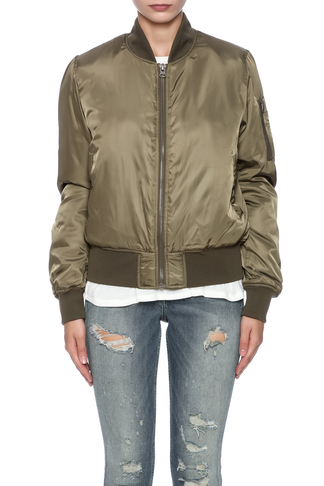 RD Style Olive Bomber - Side Cropped Image