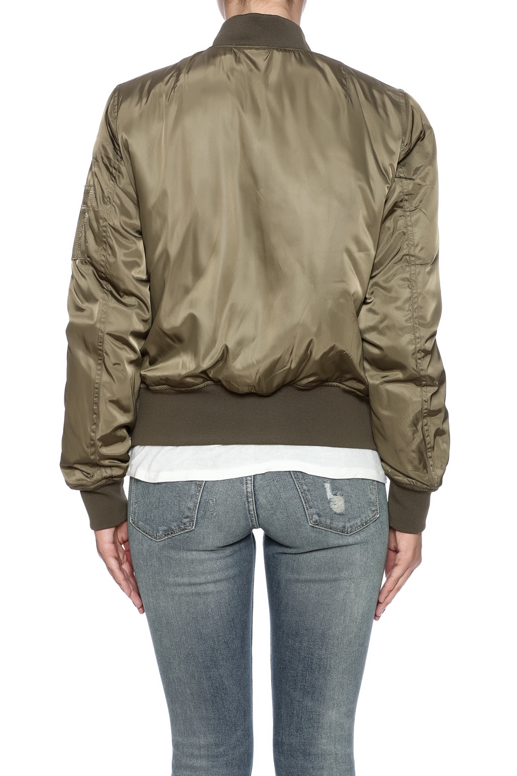 RD Style Olive Bomber - Back Cropped Image
