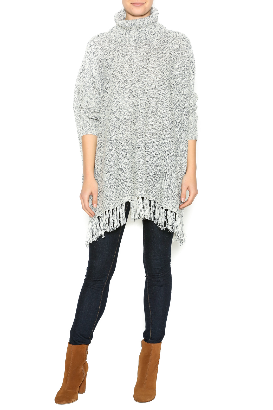 fe9ced5d4cd RD Style Turtleneck Fringe Poncho from Ohio by Lou Lou s — Shoptiques