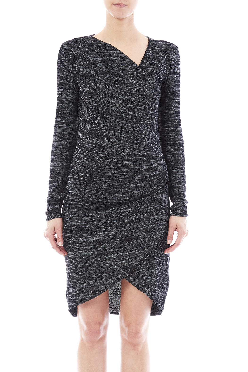 RD Style Wrap Knit Dress - Side Cropped Image