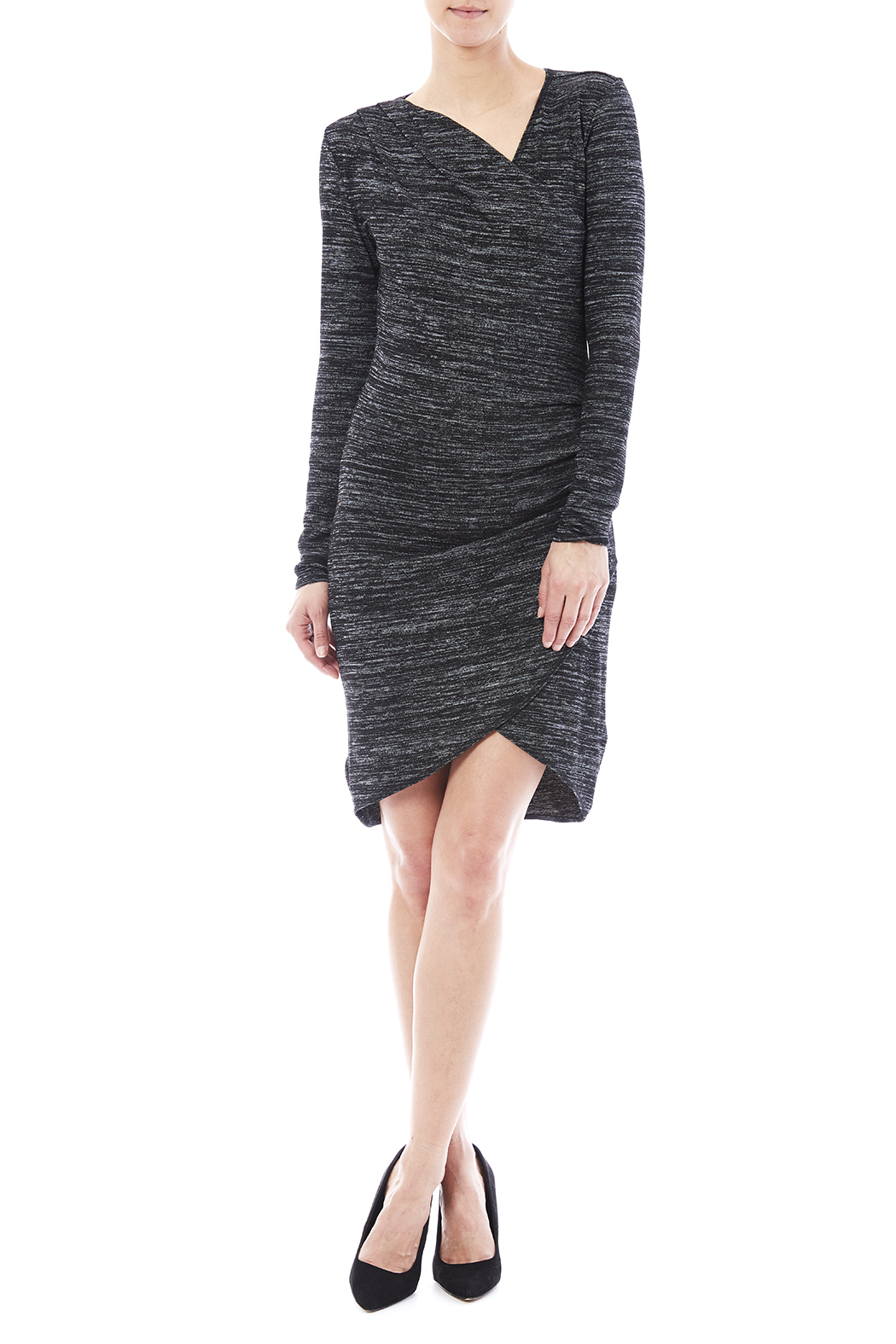 RD Style Wrap Knit Dress - Front Full Image