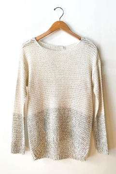 RD Style 2 Tone Knit Crochet Top - Product List Image