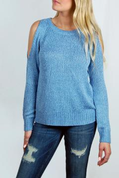 RD Style Blue Cold-Shoulder Sweater - Product List Image