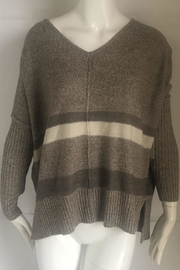 RD Style Beige V-Neck Sweater - Product Mini Image