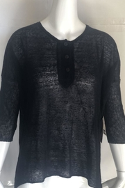 RD Style Black Henley Top - - Product Mini Image