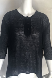 RD Style Black Henley Top - Product Mini Image