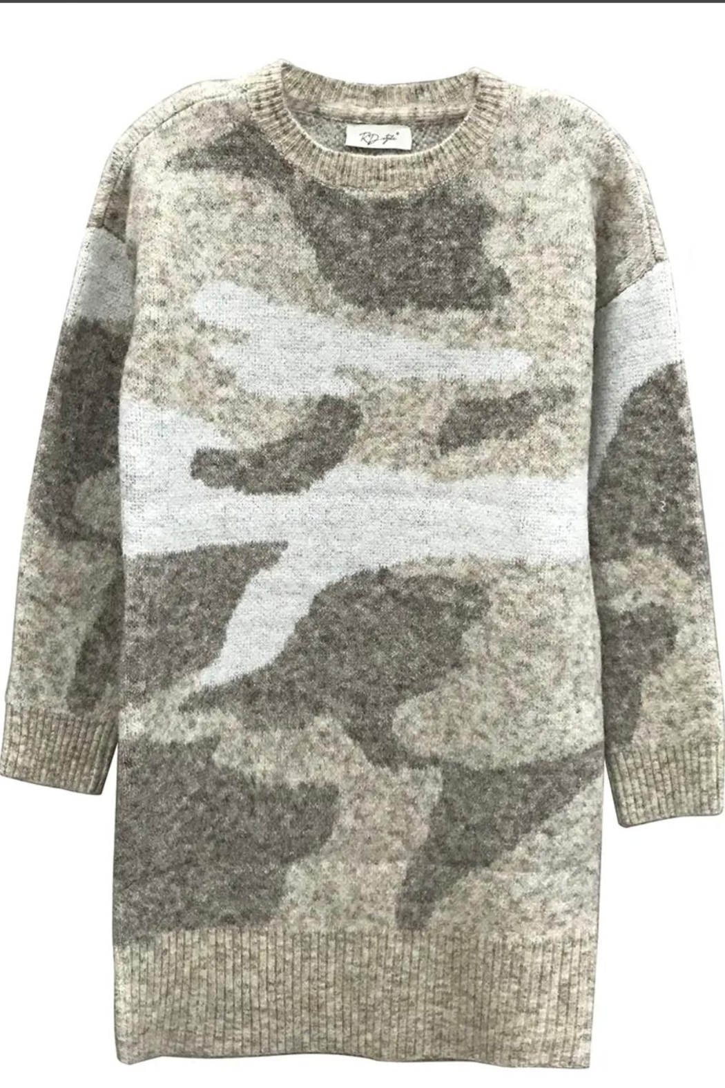 RD Style Camo Sweater Dress - Main Image