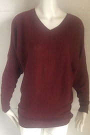 RD Style Cranberry V-Neck Sweater - - Product Mini Image