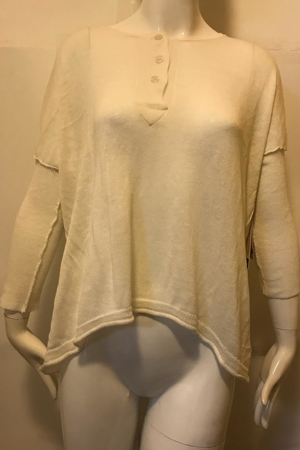 RD Style Cream Henley Top - - Main Image