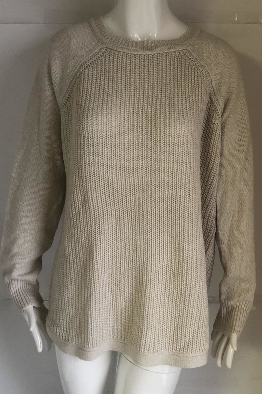RD Style Cream Knit Sweater - Main Image