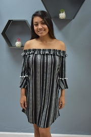 RD Style Midnight Striped Dress - Front cropped