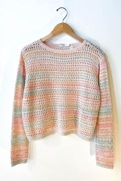 RD Style Multi Color Crochet Sweater - Product List Image
