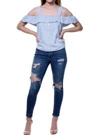 RD Style Blue Pinstripe Top - Product Mini Image