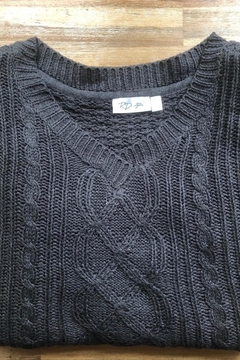 RD Style Pullover Cable-Knit Sweater - Alternate List Image