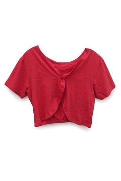RD Style Red Crop Top - Alternate List Image