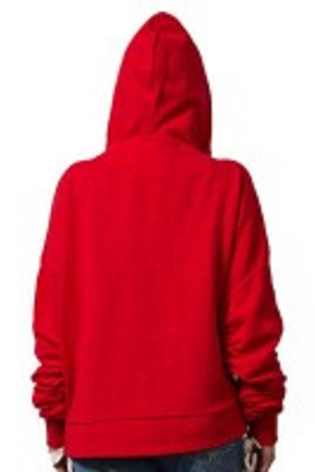 RD Style Red Rouched Hoodie - Front Full Image