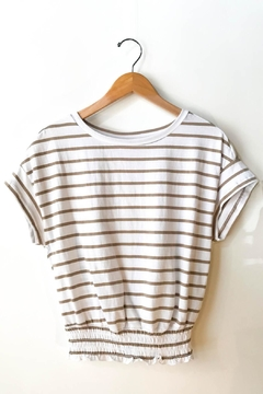 RD Style Striped Short Sleeve Knit T-Shirt - Product List Image