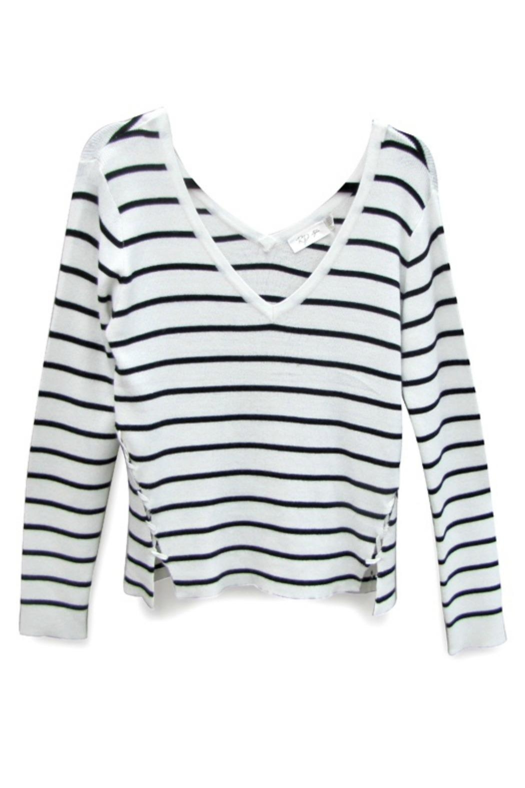 RD Style Striped V Sweater - Main Image