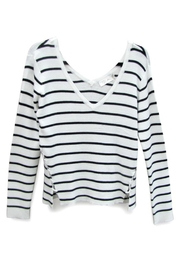 RD Style Striped V Sweater - Front cropped