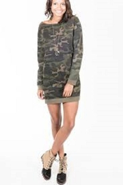 RD Style Sweatshirt Camo Dress - Front cropped