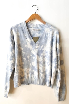 RD Style Tie Dye Crop V-Neck Sweater - Product List Image