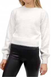 RD Style White Fuzzy Sweater - Product Mini Image