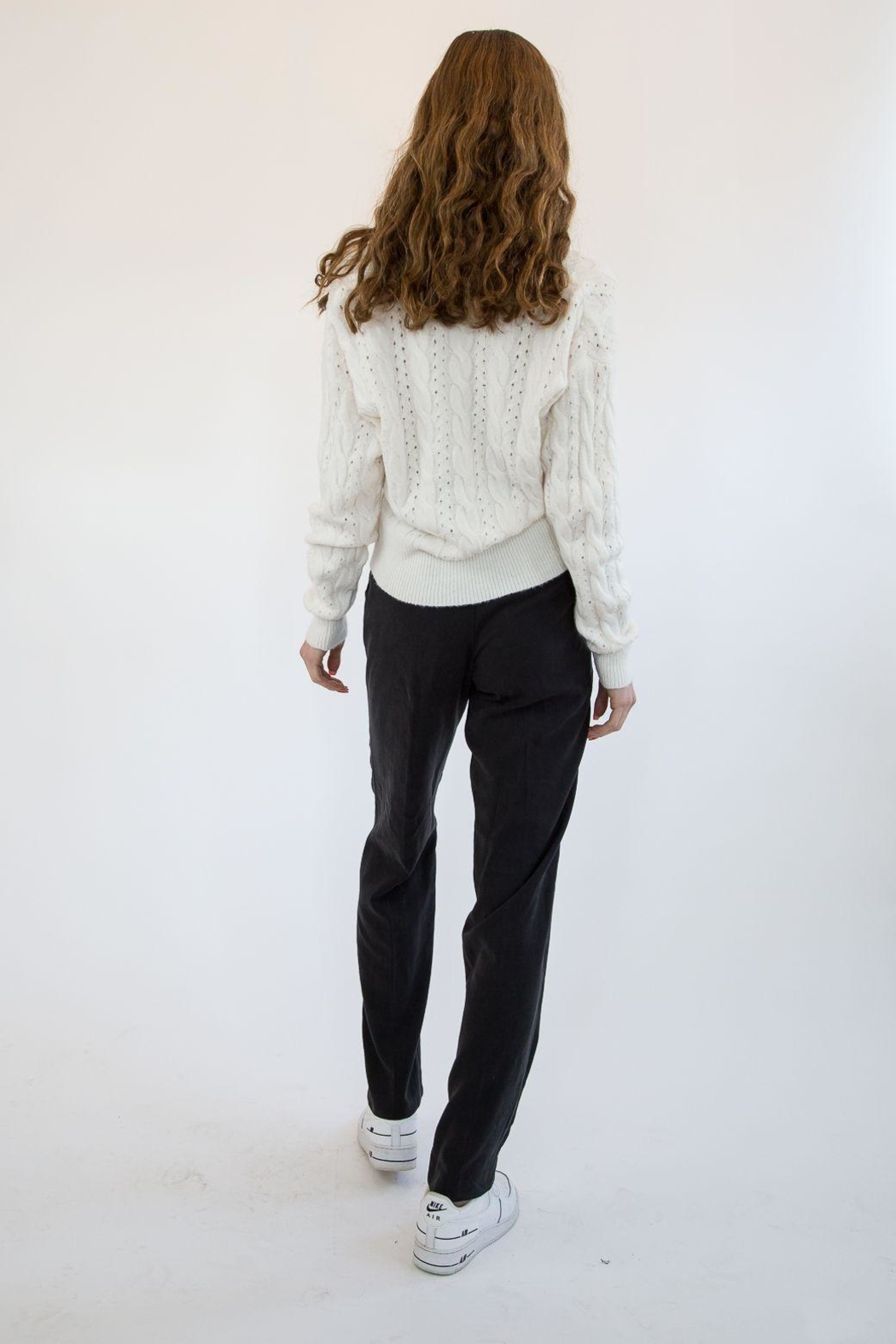 RD Style White Sweater - Front Full Image