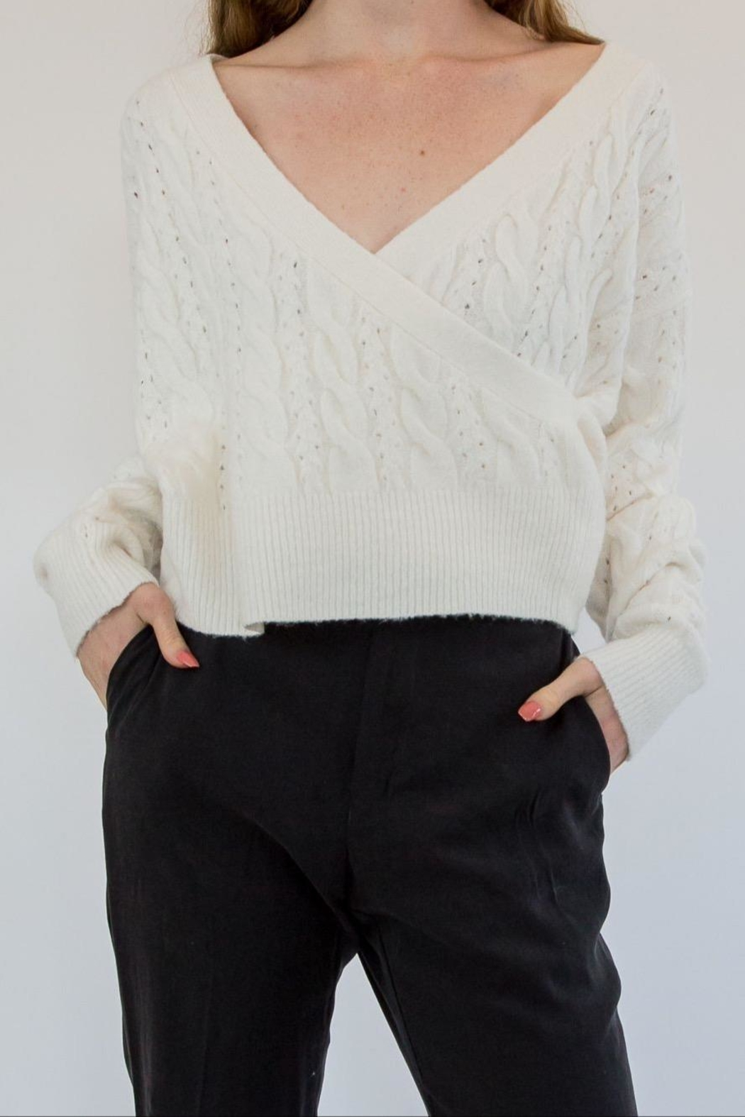 RD Style White Sweater - Main Image