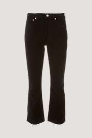 RE/DONE High Rise Crop Kick Flare - Front full body