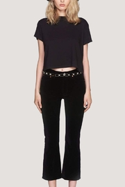 RE/DONE High Rise Crop Kick Flare - Front cropped