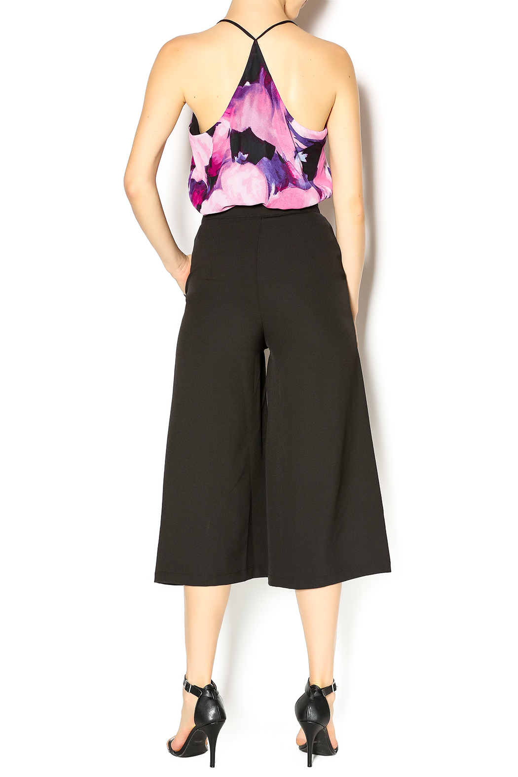 re:named Black Culottes - Side Cropped Image