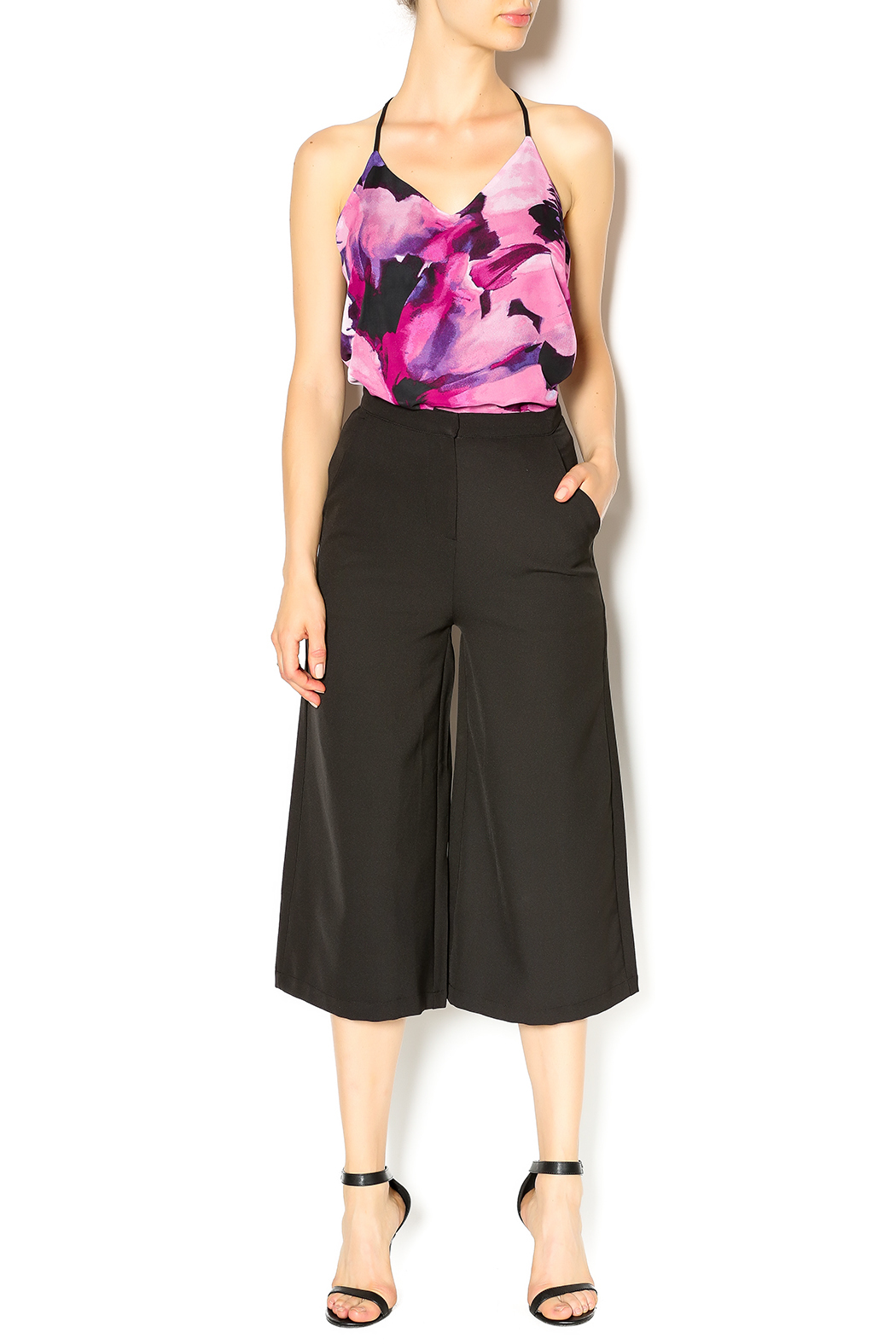 re:named Black Culottes - Front Full Image