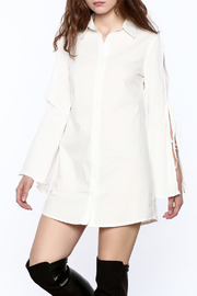re:named White Button-Down Shirtdress - Product Mini Image