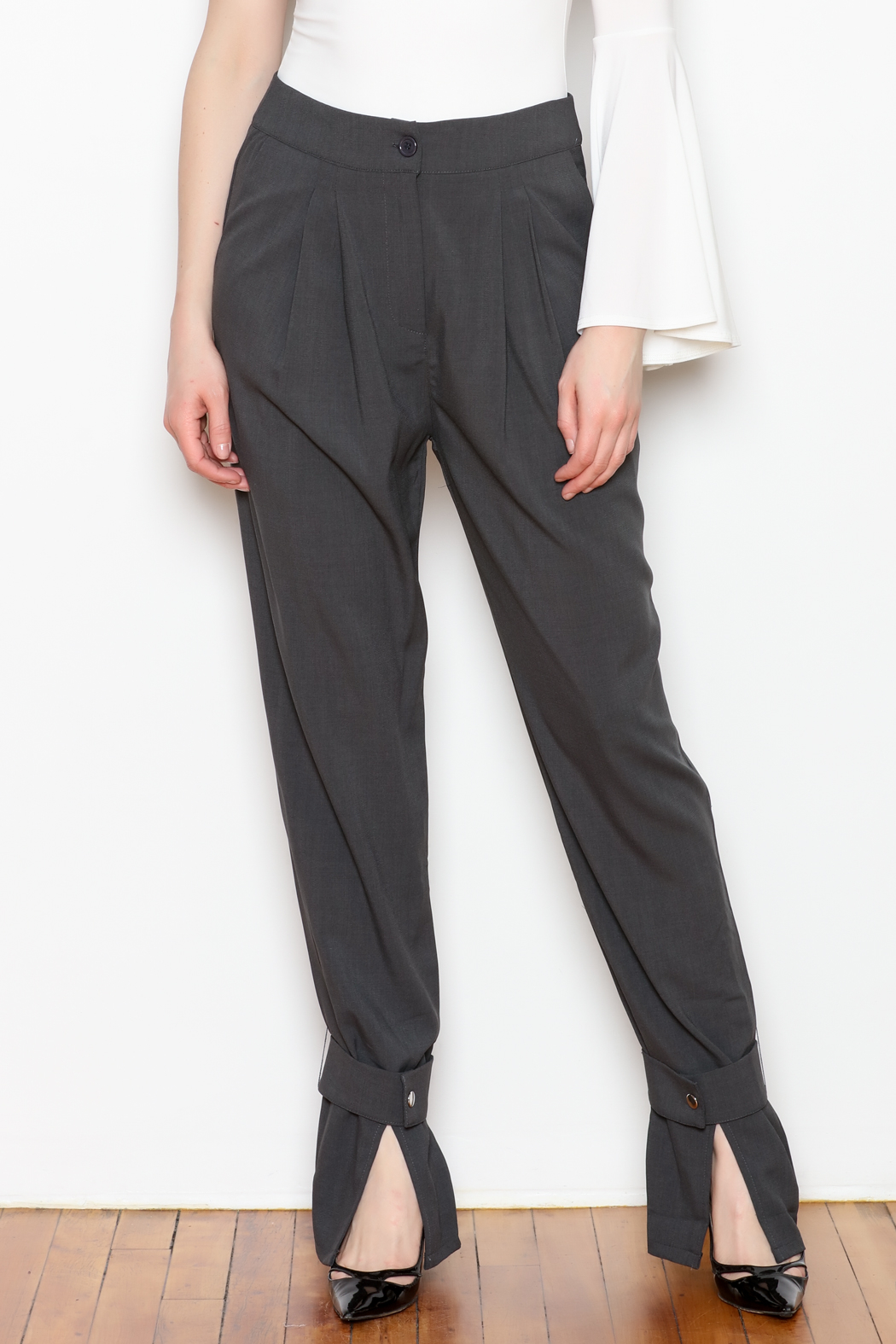re:named Button Ankle Trouser - Main Image