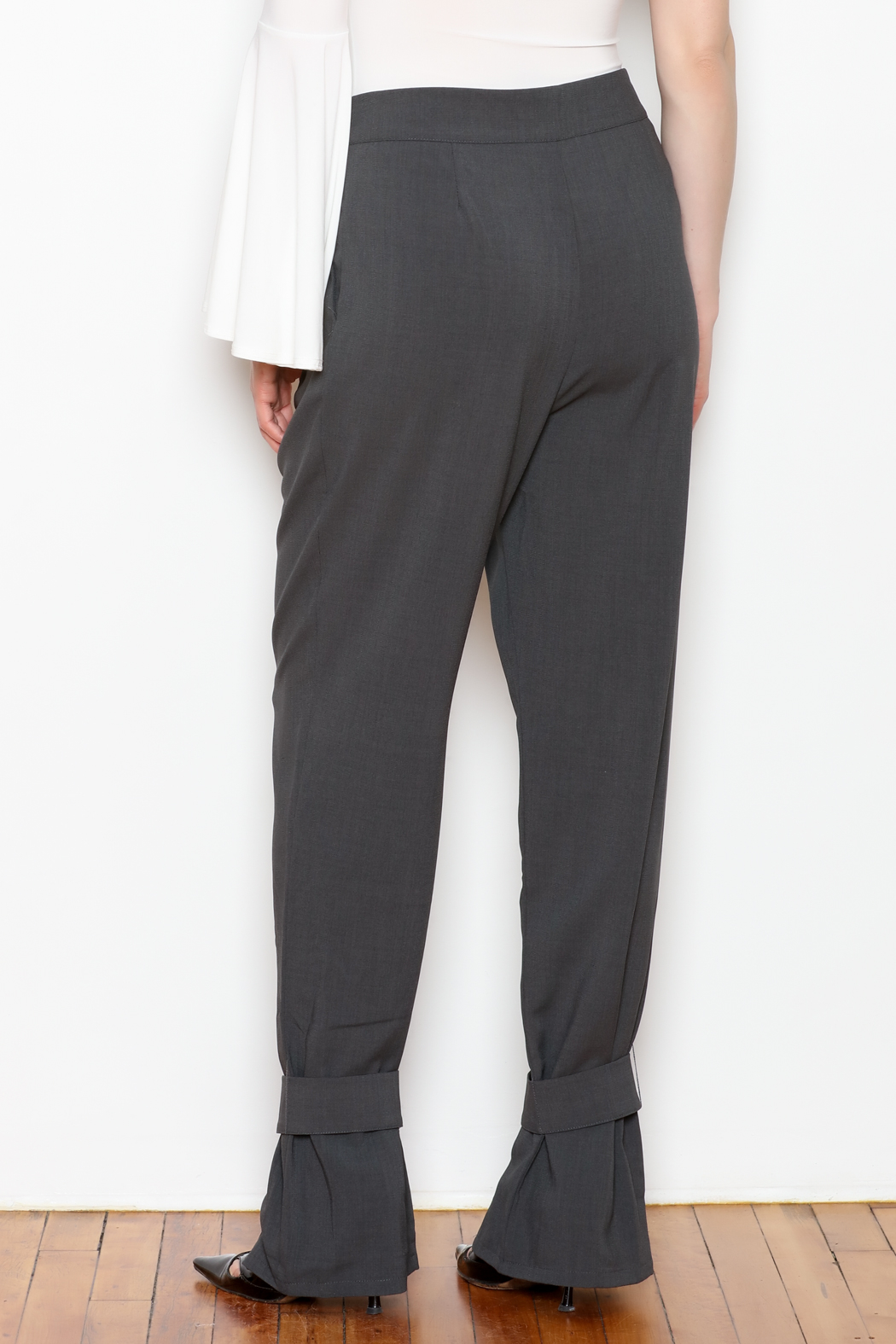 re:named Button Ankle Trouser - Back Cropped Image