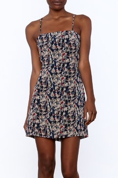 re:named Navy Confetti Print Dress - Product List Image