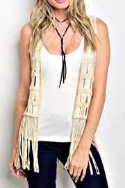 re:named Crocheted Fringe Vest - Product Mini Image