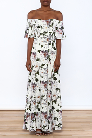 re:named Floral Off Shoulder Dress - Front cropped
