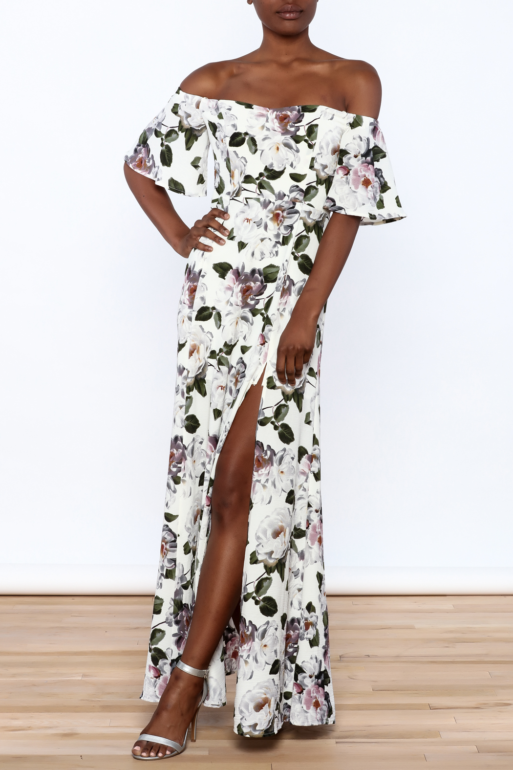 re:named Floral Off Shoulder Dress - Main Image