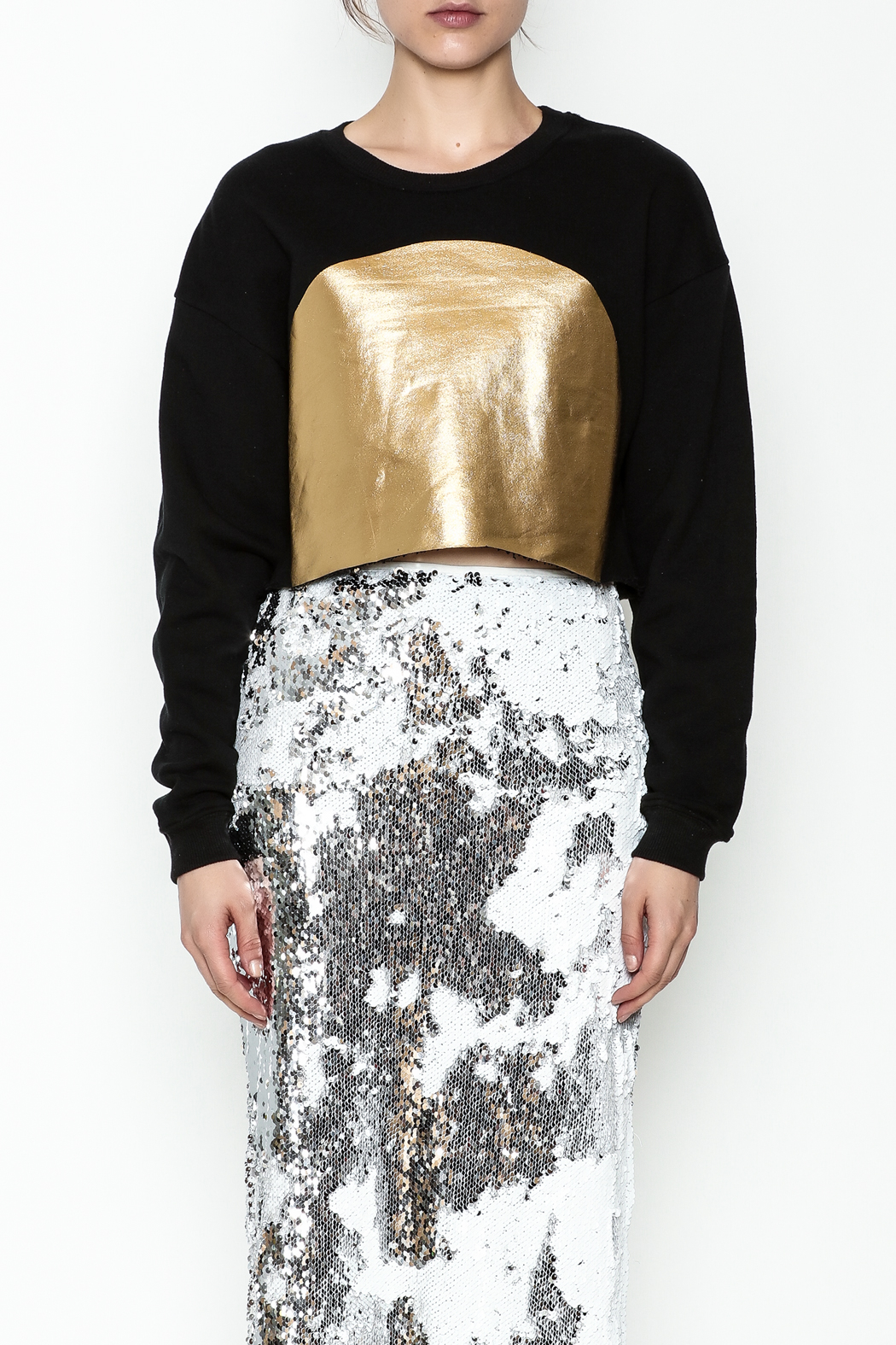re:named Gold Foil Sweatshirt - Front Full Image