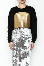 re:named Gold Foil Sweatshirt - Front full body