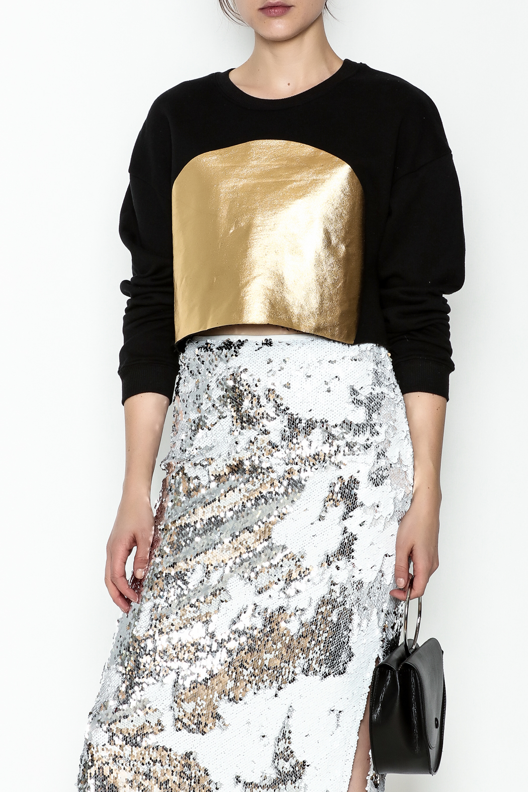 re:named Gold Foil Sweatshirt - Main Image