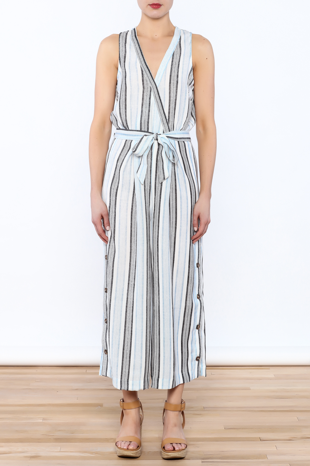 re:named Hampton's Culotte Jumpsuit - Front Cropped Image