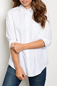 re:named Lace Up Blouse - Product List Image