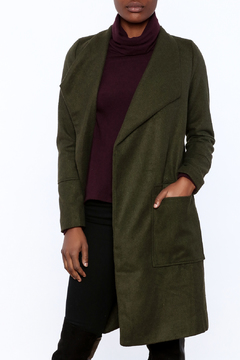 Shoptiques Product: Olive Open Coat