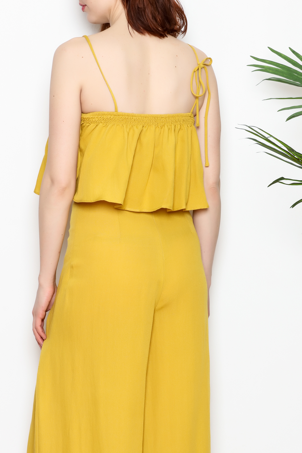 re:named Mustard Crop Top - Back Cropped Image